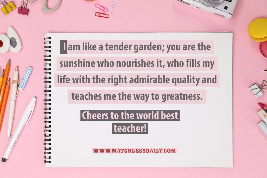 My best teacher quotes