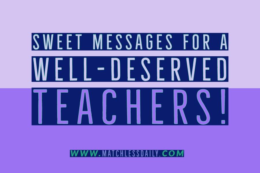 Sweet Messages for Teachers