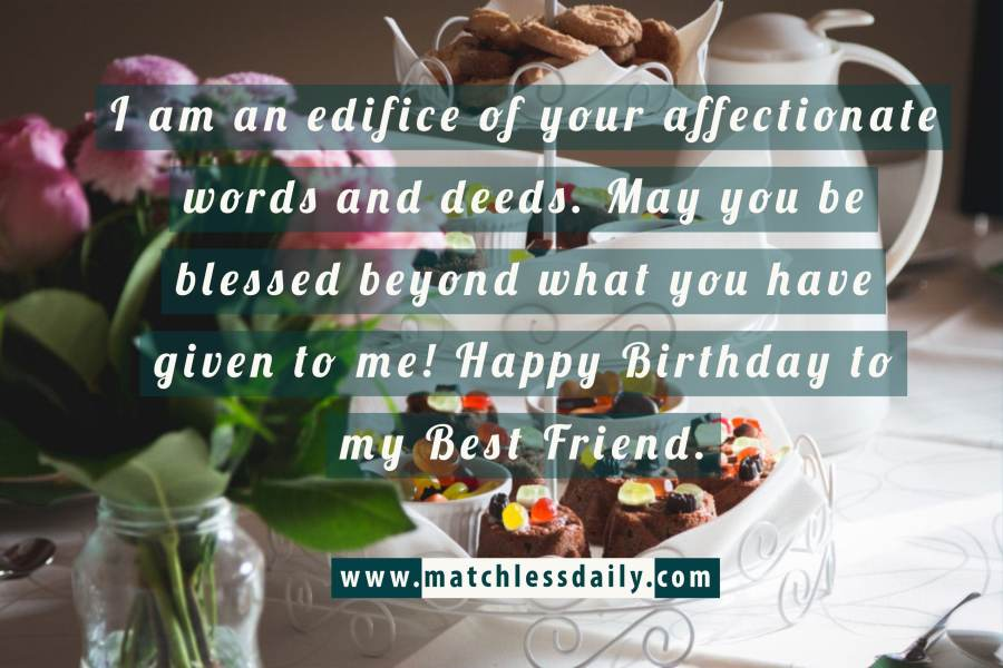 Touching Birthday Messages to a Best Friend